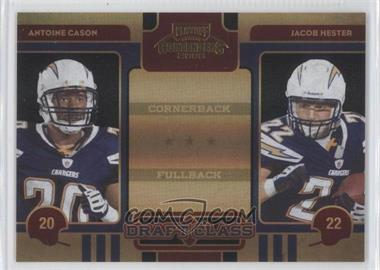 2008 Playoff Contenders - Draft Class - Black #28 - Antoine Cason, Jacob Hester /50