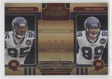 2008 Playoff Contenders - Draft Class - Black #30 - John Carlson, Lawrence Jackson /50