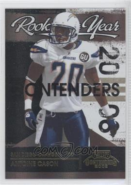 2008 Playoff Contenders - Rookie of the Year Contenders - Black #35 - Antoine Cason /50