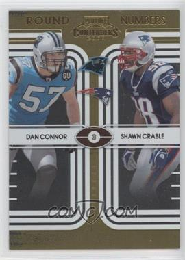 2008 Playoff Contenders - Round Numbers - Gold #18 - Dan Connor, Shawn Crable /100