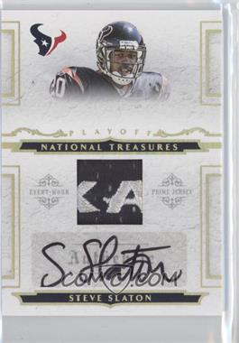 2008 Playoff National Treasures - [???] #110 - Steve Slaton /25