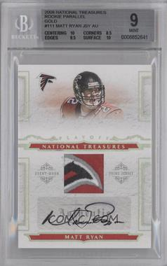 2008 Playoff National Treasures - [???] #111 - Matt Ryan /25 [BGS 9]