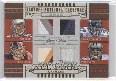 2008 Playoff National Treasures - All Pros Quads - Prime #8 - Shaun Alexander, Chris Cooley, Tom Brady, Steve Smith /25