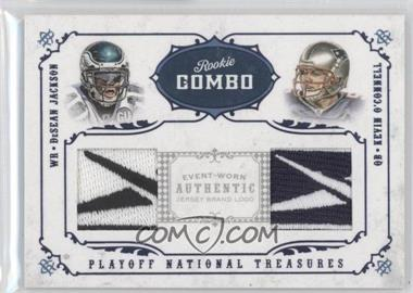 2008 Playoff National Treasures - Rookie Combos - Brand Logos #25 - DeSean Jackson, Kevin O'Connell /8