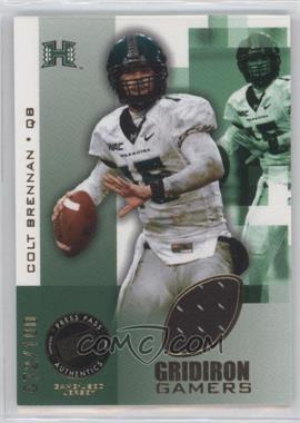 2008 Press Pass - Gridiron Gamers - Gold #GG-CB - Colt Brennan /100