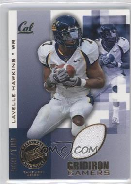 2008 Press Pass - Gridiron Gamers - Gold #GG-LH - Lavelle Hawkins /100