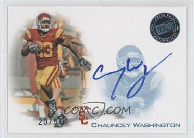 2008 Press Pass - Signings - Blue #PPS-CW - Chauncey Washington /50