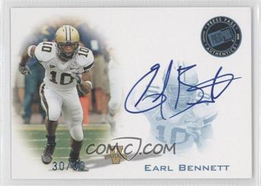 2008 Press Pass - Signings - Blue #PPS-EB - Earl Bennett /50