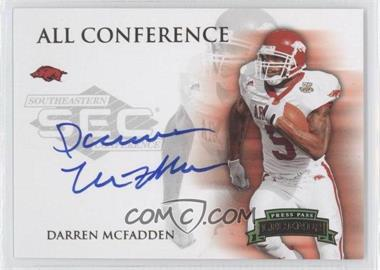 2008 Press Pass Legends - All Conference Autographs - Silver #AC-DM - Darren McFadden /100