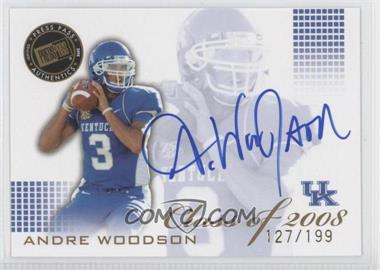 2008 Press Pass SE - Class of 2008 - Autographs Blue Ink [Autographed] #CL-AW - Andre Woodson /199