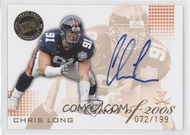 2008 Press Pass SE - Class of 2008 - Autographs Blue Ink [Autographed] #CL-CL - Chris Long /199