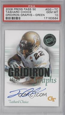 2008 Press Pass SE - Gridiron Graphs - Green #GG-TC - Tashard Choice /25 [PSA 10]