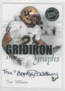 2008 Press Pass SE - Gridiron Graphs - Green #GG-TW - Trae Williams /25