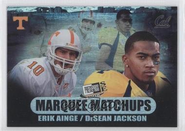 2008 Press Pass SE - Marquee Matchups #MM-4 - Erik Ainge, DeSean Jackson