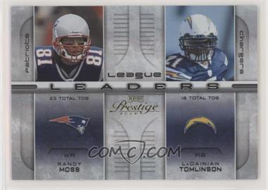 2008 Prestige - League Leaders - Holo-Foil #LL-25 - Braylon Edwards, Joseph Addai, LaDainian Tomlinson, Randy Moss /25