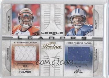 2008 Prestige - League Leaders - Materials [Memorabilia] #LL-19 - Carson Palmer, Matt Hasselbeck, Jon Kitna, Peyton Manning /250