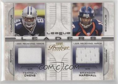2008 Prestige - League Leaders - Materials [Memorabilia] #LL-21 - Braylon Edwards, Brandon Marshall, Marques Colston, Terrell Owens /250