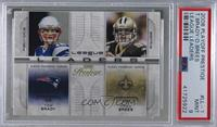 Tom Brady, Drew Brees [PSA 9 MINT]
