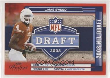 2008 Prestige - NFL Draft #NFL-31 - Limas Sweed