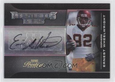 2008 Prestige - Prestigious Picks - Silver Signatures [Autographed] #PPI-30 - Ernie Wheelwright IV /100
