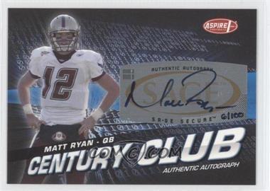 2008 SAGE Aspire - Century Club - Autographs [Autographed] #ACC-1 - Matt Ryan /100
