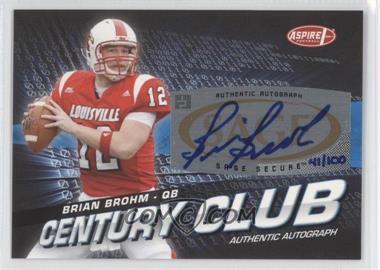 2008 SAGE Aspire - Century Club - Autographs [Autographed] #ACC-2 - Brian Brohm /100