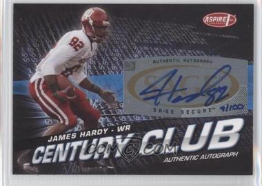 2008 SAGE Aspire - Century Club - Autographs [Autographed] #ACC-24 - James Hardy /100