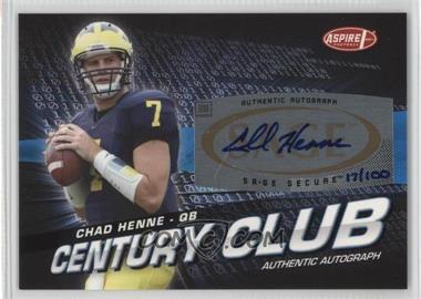 2008 SAGE Aspire - Century Club - Autographs [Autographed] #ACC-3 - Chad Henne /100