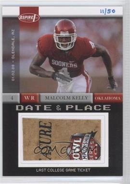 2008 SAGE Aspire - Date & Place Tickets #DP-14 - Malcolm Kelly /50