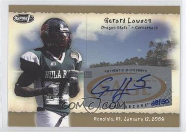 2008 SAGE Aspire - Hula Bowl Autographs - Gold #H12 - Gerard Lawson /50