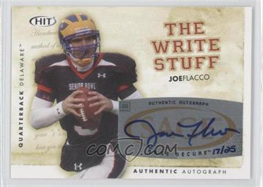 2008 SAGE Hit - The Write Stuff - Autographs [Autographed] #6 - Joe Flacco /25