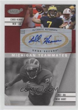 2008 SAGE Squared - Autographs #A-80B - Mike Hart, Chad Henne