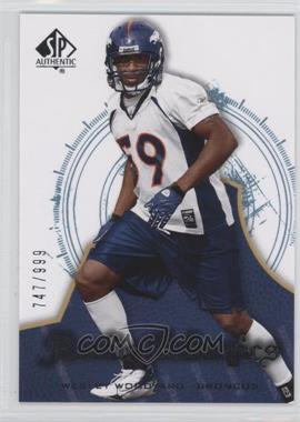 2008 SP Authentic - [Base] #199 - Rookie Authentics - Wesley Woodyard /999
