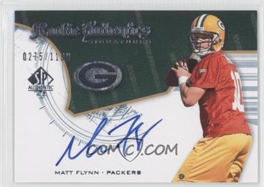 2008 SP Authentic - [Base] #228 - Rookie Authentics Signatures - Matt Flynn /1199