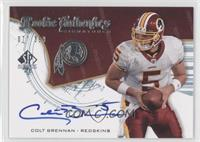 Rookie Authentics Signatures - Colt Brennan /399