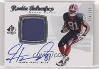 Rookie Authentics Auto Patch - James Hardy #/999