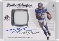 Rookie Authentics Auto Patch - Mario Manningham [Noted] #/999