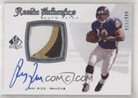 Rookie Authentics Auto Patch - Ray Rice #/999