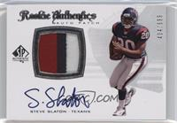 Rookie Authentics Auto Patch - Steve Slaton /999