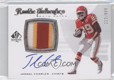 2008 SP Authentic - [Base] #293 - Rookie Authentics Auto Patch - Jamaal Charles /999