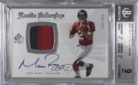 Rookie Authentics Auto Patch - Matt Ryan /499 [BGS 9]