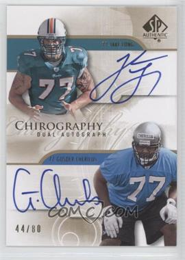 2008 SP Authentic - Chirography Dual Autographs #CH2-LC - Jake Long, Gosder Cherilus /80