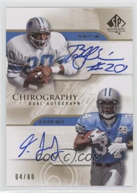 2008 SP Authentic - Chirography Dual Autographs #CH2-SS - Billy Sims /80