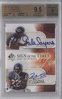 Matt Forte, Gale Sayers /50 [BGS 9.5 GEM MINT]