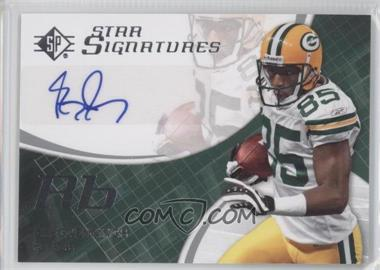 2008 SP Authentic - Star Signatures #SPSS-13 - Greg Jennings