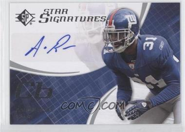 2008 SP Authentic - Star Signatures #SPSS-3 - Aaron Ross