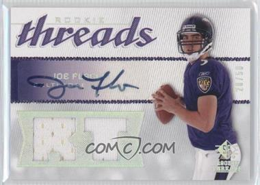 2008 SP Rookie Threads - Rookie Threads - RT Pattern Autographs [Autographed] #RT-JF - Joe Flacco /50