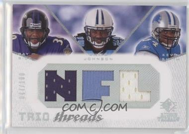 2008 SP Rookie Threads - Trio Threads - NFL #TT-RJS - Ray Rice, Chris Johnson, Kevin Smith /100
