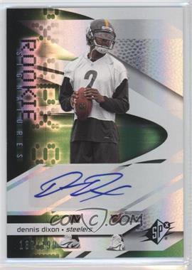 2008 SPx - [Base] - Rookies Green #210 - Dennis Dixon /199