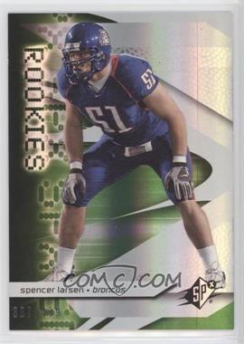2008 SPx - [Base] - Rookies Green #94 - Spencer Larsen /499